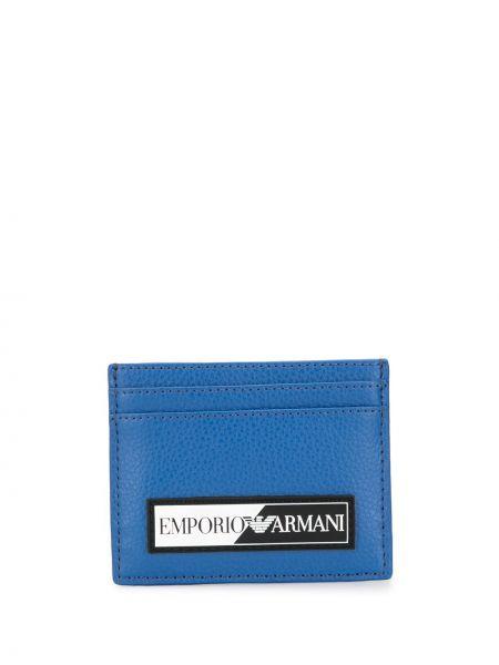 Niebieski plaster wargowy z kieszeniami z łatami plac Emporio Armani