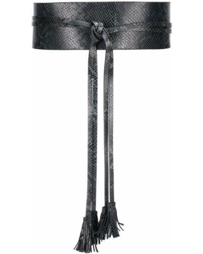 Широкий ремень черный из кожи питона Twin-set