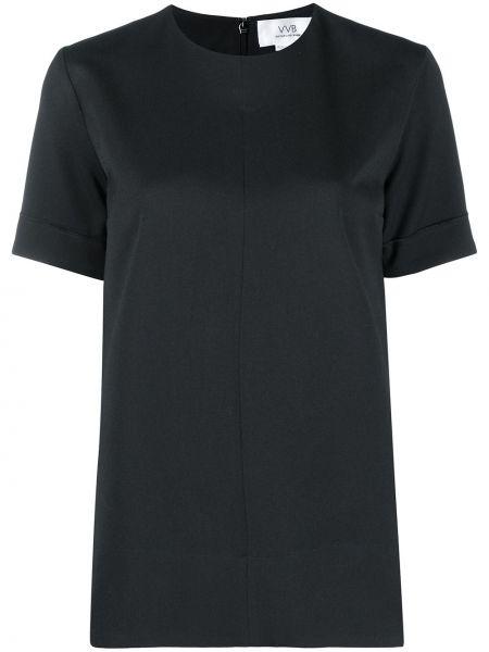 Прямая черная блузка из вискозы Victoria, Victoria Beckham