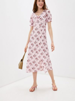 Прямое розовое платье А-силуэта Imocean