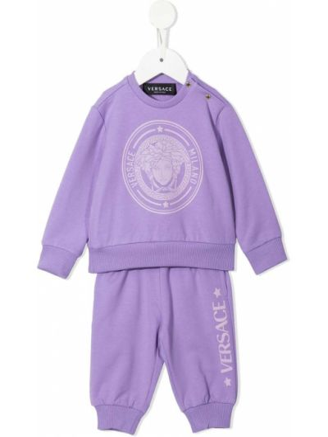 Dres bawełniany - fioletowy Versace Kids