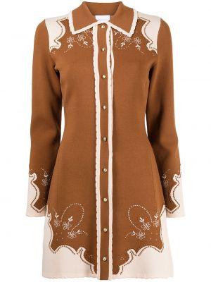 Платье макси длинное - коричневое Alice Mccall