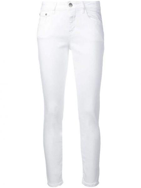 Облегающие зауженные джинсы - белые Closed