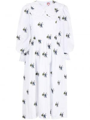 Biała sukienka midi bawełniana Shrimps