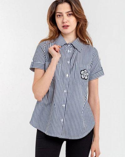 Рубашка с коротким рукавом синяя Modniy Oazis