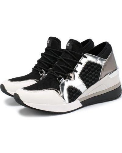 Кроссовки на платформе комбинированные Michael Michael Kors