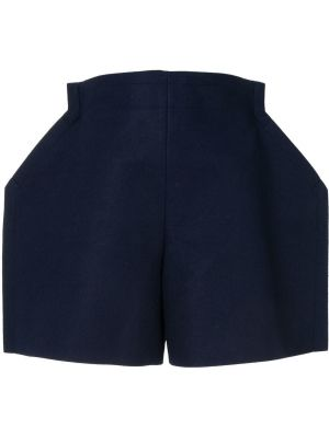 Синие шорты оверсайз с потайной застежкой Comme Des Garçons Pre-owned