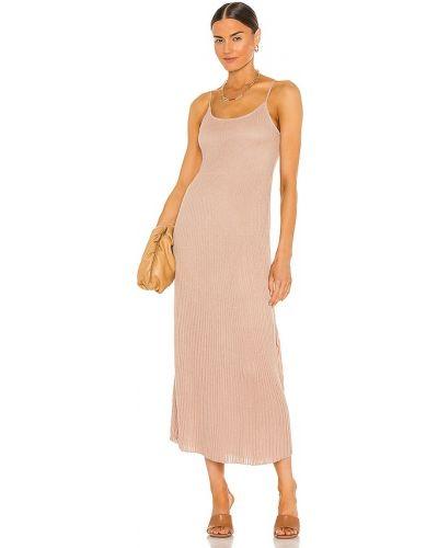 Светло-розовое хлопковое платье макси с подкладкой John & Jenn By Line