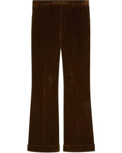 Czerwony spodni z wysokim stanem spodnie Gucci