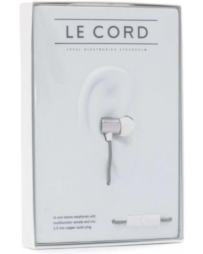 Золотистые серебряные силиконовые меховые наушники Le Cord