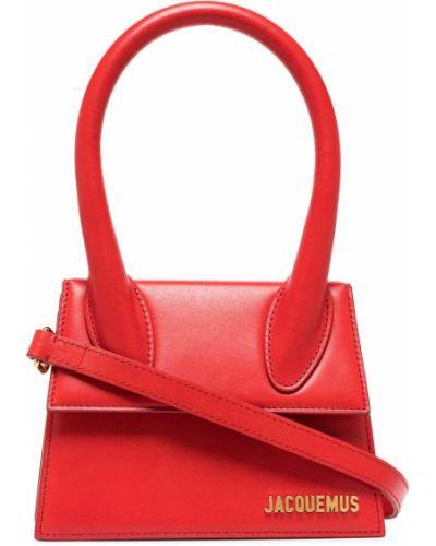 Красная кожаная сумка Jacquemus