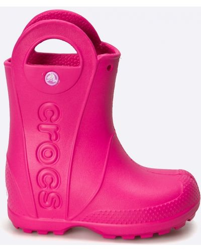 Розовые сапоги Crocs