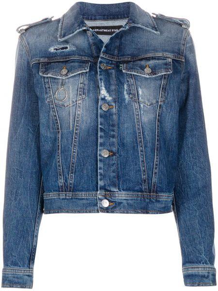 Прямая синяя джинсовая куртка Department 5