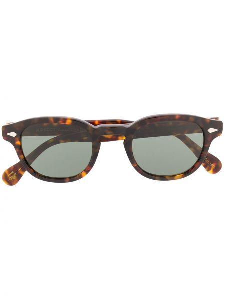 Prosto brązowy oprawka do okularów okrągły Moscot