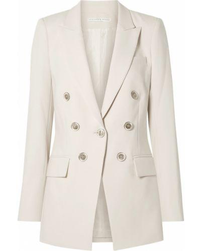Белый пиджак двубортный с подкладкой Veronica Beard
