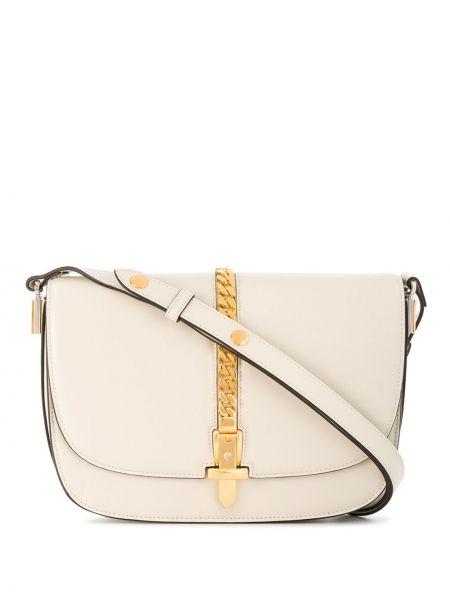 Z paskiem biały torebka na łańcuszku z prawdziwej skóry Gucci