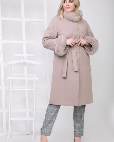 Пушистое длинное пальто с воротником Sergio Cotti