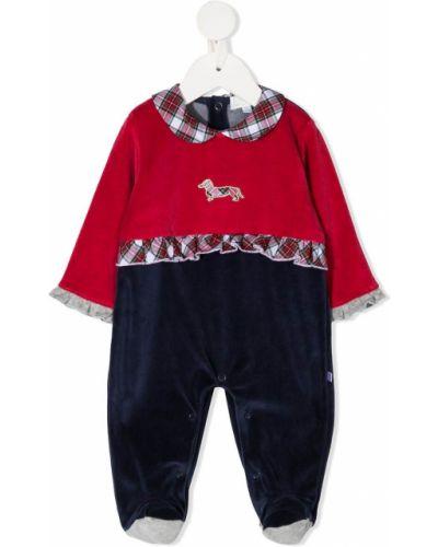 С рукавами пижамная синяя пижама на пуговицах Harmont & Blaine Junior