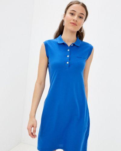 Синее платье осеннее Galvanni