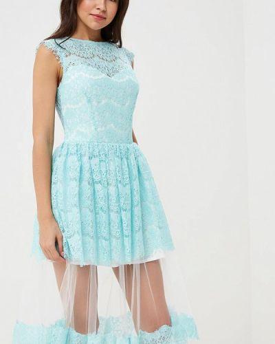 Платье весеннее бирюзовый Mirasezar