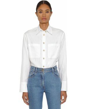 Классическая рубашка на кнопках под запонки Balmain
