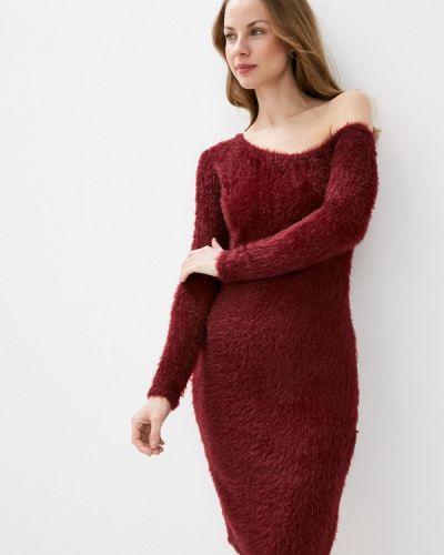 Красное платье с открытыми плечами Krismarin