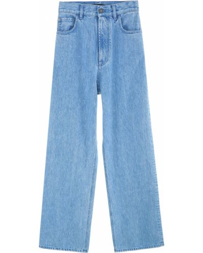 Синие джинсы с карманами с нашивками Miss Sixty