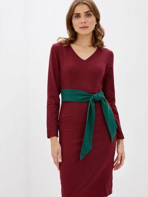 Повседневное платье бордовый красный Cavo