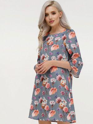 Серое платье а-силуэта Masha Mart