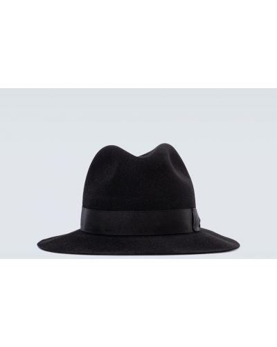 Czarny klasyczny kapelusz od królika Borsalino