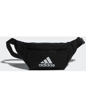 Спортивная черная поясная сумка с поясом для фитнеса Adidas