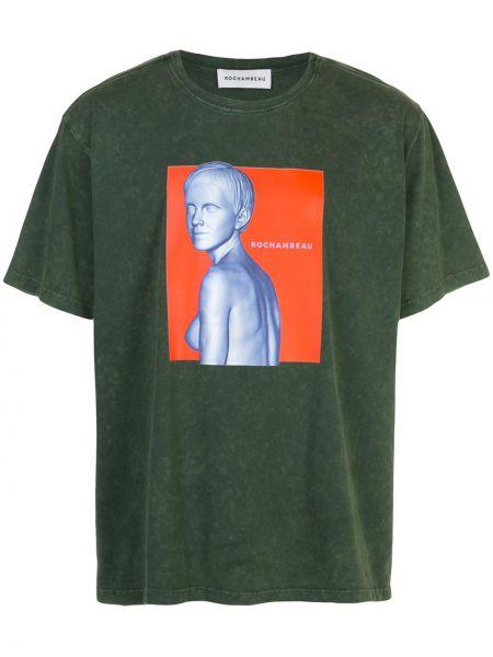 Zielony t-shirt bawełniany krótki rękaw Rochambeau