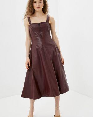 Платье бордовый платье-сарафан You&you