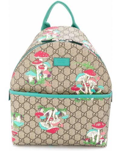 Рюкзак с карманами с заплатками на бретелях Gucci Kids