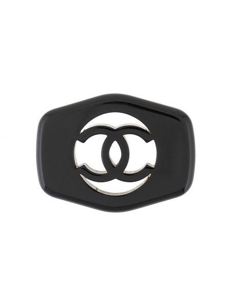Broszka czarny Chanel Pre-owned