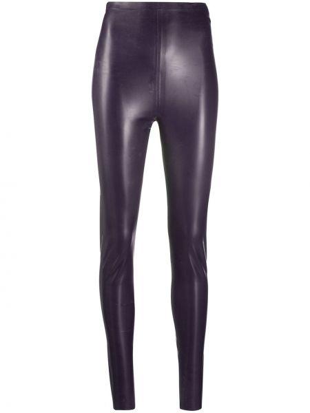 Фиолетовые леггинсы латексные матовые Saint Laurent