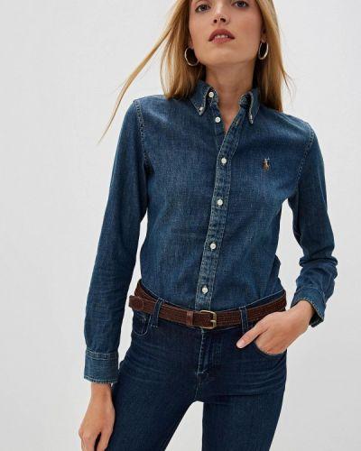 Синяя джинсовая рубашка Polo Ralph Lauren