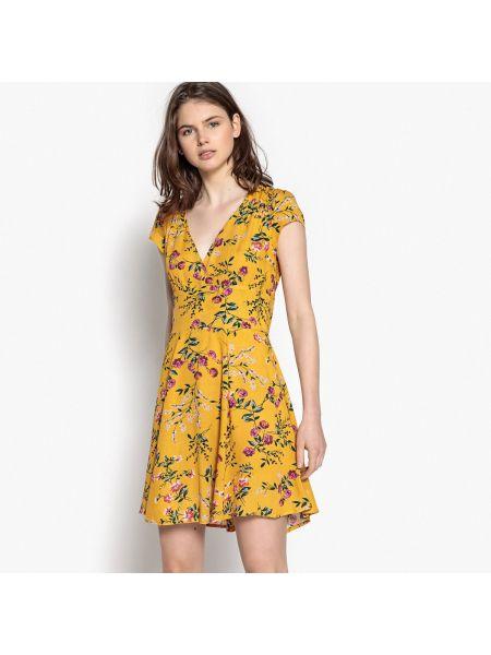 Платье мини короткое - желтое Best Mountain