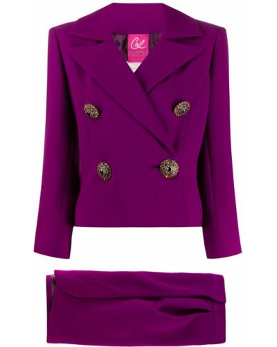 Фиолетовый костюм Christian Lacroix Pre-owned
