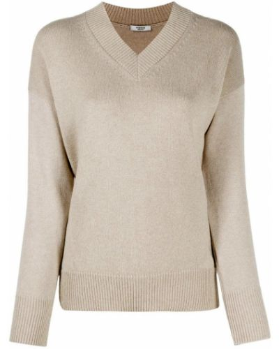 Z kaszmiru sweter z dekoltem w serek Peserico