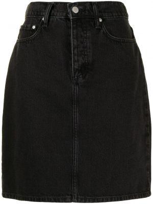 Хлопковая с завышенной талией черная джинсовая юбка Nobody Denim