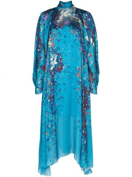 Вечернее платье миди с цветочным принтом Givenchy