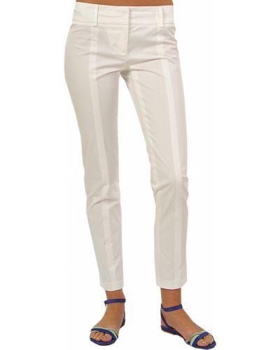 Белые брюки хлопковые Patrizia Pepe