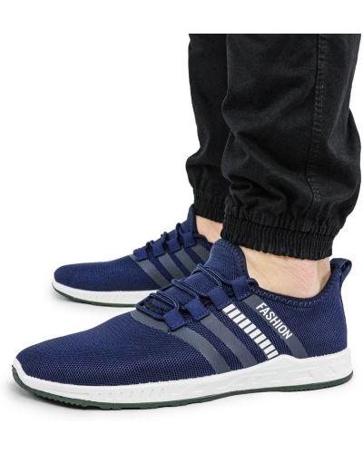 Текстильные кроссовки - синие Bromen