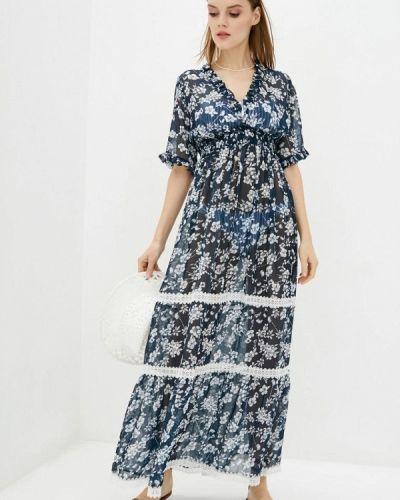 Пляжное платье - синее Komilfo