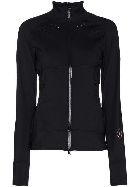 С рукавами черная спортивная куртка с воротником Adidas By Stella Mccartney