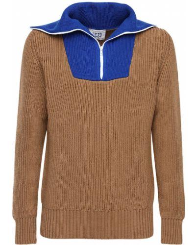 Brązowy sweter wełniany Lc23