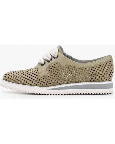Зеленые ботинки из нубука Pazolini