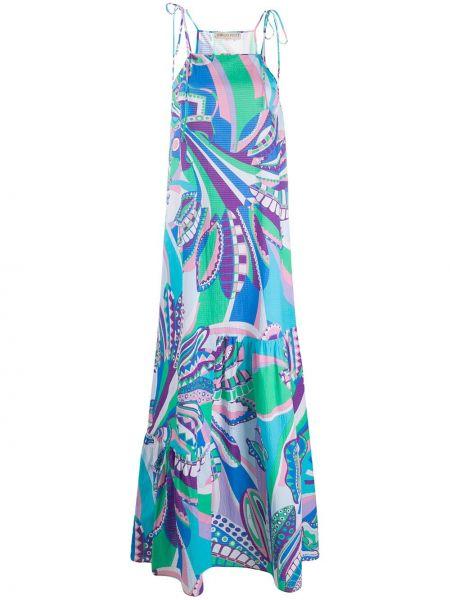 Платье на бретелях с абстрактным принтом Emilio Pucci