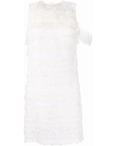 Sukienka koronkowa z gipiury - biała Givenchy